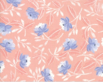 CLEARANCE - Moda - Twilight by One Canoe Two - Peony Coral (36031 14) - Floral