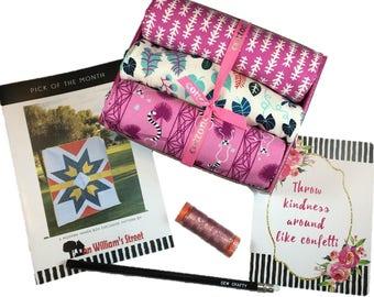 "Complete Modern Maker Box - Lagoon by Rashida Coleman-Hale for Cotton + Steel Fabrics (RJR) Box ""Pink"" -  Quilters Cotton"
