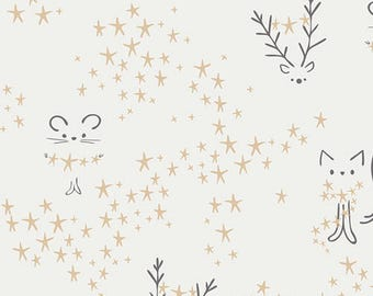 CLEARANCE - One Yard Cut - Starbright in Frost - Little Town by Amy Sinibaldi for Art Gallery Fabrics -  Quilters Cotton