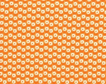 CLEARANCE - Michael Miller Fabrics - Bunnies Garden Flower Path in Orange - CX7763-CARR-D - Holiday and Seasonal