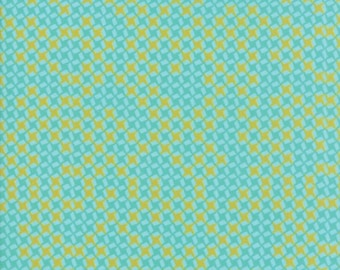 Moda Fabrics - Growing Beautiful by Crystal Manning - 11837 11 - Teal Grid