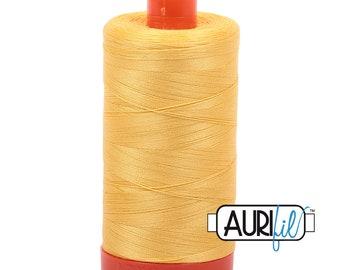 50 Wt AURIFIL - Pale Yellow 1135 - 1300M Cotton Quilting Thread