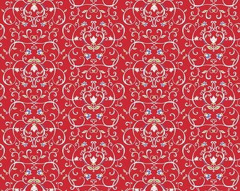 CLEARANCE - Penny Rose Fabrics - Meadow Sweets - Meadow Vines Red by Jililly Studios (C5652-RED)