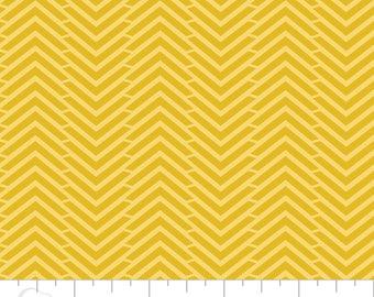 5 Yard Cut - Camelot Fabrics - Mixology Tumeric in Herringbone - Blenders