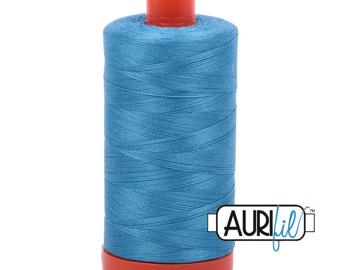 50 Wt AURIFIL Bright Teal 1320 Mako Made in Italy 1300m Quilt Cotton Quilting Thread (MK50SC6)