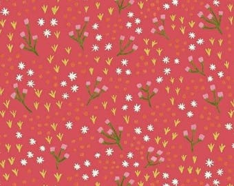 CLEARANCE - One Yard Cut - High Meadow in Honeysuckle - Meriwether by Amy Gibson for Windham Fabrics -  Quilters Cotton