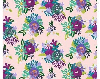Clothworks Fabrics - Painted Petals - Pink - Y3073-41