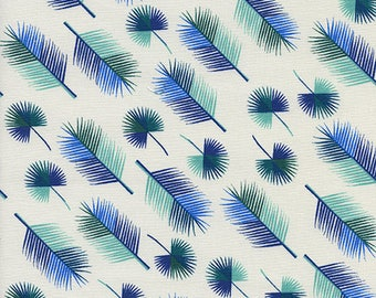 CLEARANCE - Cotton + Steel - Lagoon by Rashinda Coleman-Hale - Unbeleafable Blue - Modern Maker Box