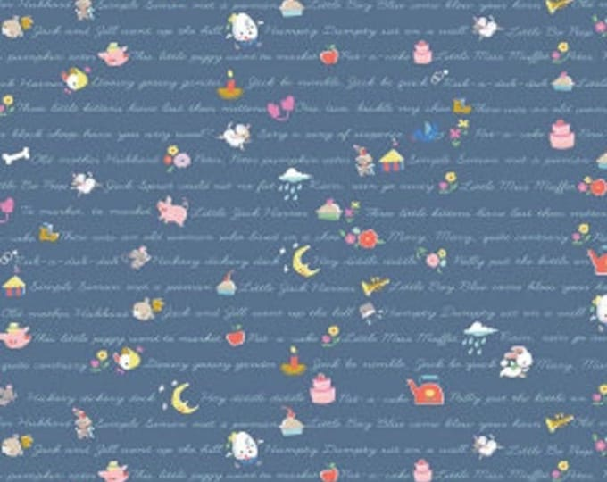 CLEARANCE - Riley Blake - Once Upon a Rhyme by Jill Howarth - C8025 Blue
