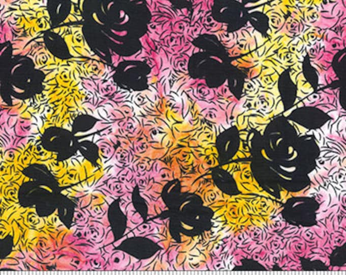 Banyan Batiks - Raindrops on Roses - Roses Sherbet - 80470-23