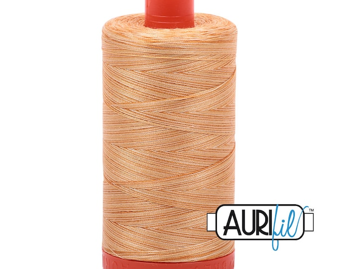 50 Wt AURIFIL - Creme Brule 4150 - Variegated Mako Made in Italy 1300m Quilt Cotton Quilting Thread