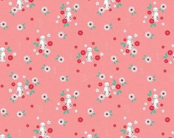 Riley Blake Fabrics - Rose Lane by Beverly McCullough - C8672 Dark Pink with Cats