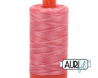 50 Wt AURIFIL Strawberry Parfait 4668 Mako Made in Italy 1300m Quilt Cotton Quilting Thread (MK50SC6)