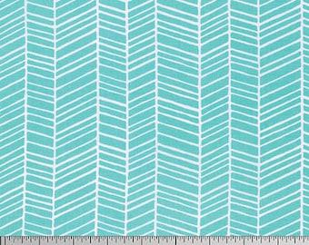 Free Spirit - Herringbone - Joel Dewberry True Colors (PWTC007 - Aqua) - Blenders