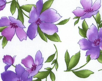 Violet - Coordinating Print - Maywood - Catalina Ultraviolet by Marti Michell - Medium Floral (MAS8401) - Floral
