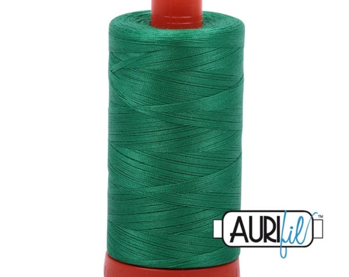 50 Wt AURIFIL Emerald 2865 Mako Made in Italy 1300m Quilt Cotton Quilting Thread (MK50SC6)