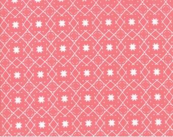 Moda Fabrics - Lollipop Garden by Lella Boutique - 5084 13 - Peach Grid