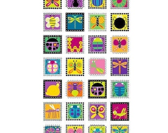 """Andover Fabrics - Buzzin' Around Panel by Kim Schaefer - A-9380-L - approx 24"""" x 44"""""""