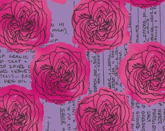 Windham Fabrics - Norma Rose by Natalie Barnes - Purple & Pink Roses - 52014-5