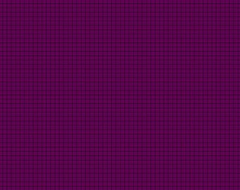 Contempo by Benartex - Gridwork - Square Grid Grape - 06817 - Blender