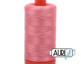 50 Wt AURIFIL - Peachy Pink 2435 - 1300M - Cotton Quilting Thread (MK50SP2435)