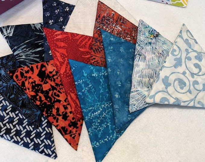 "Hoffman Bali Batik Club - July ""Independence Day!"" - 12 Coordinating Fat Quarters - Quilting Cotton"