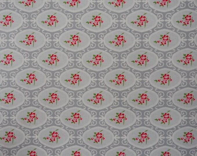 CLEARANCE - Free Spirit - Charlotte by Tanya Whelan - Cherry Blossom - Gray - PWTW146.Gray