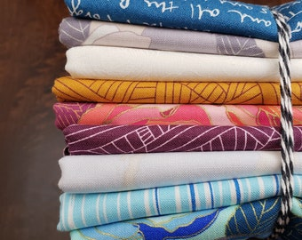 9 Print Half Yard Fabric Bundle - Mosaic by Shannon Brinkley for Andover Fabrics - Quilters Cotton