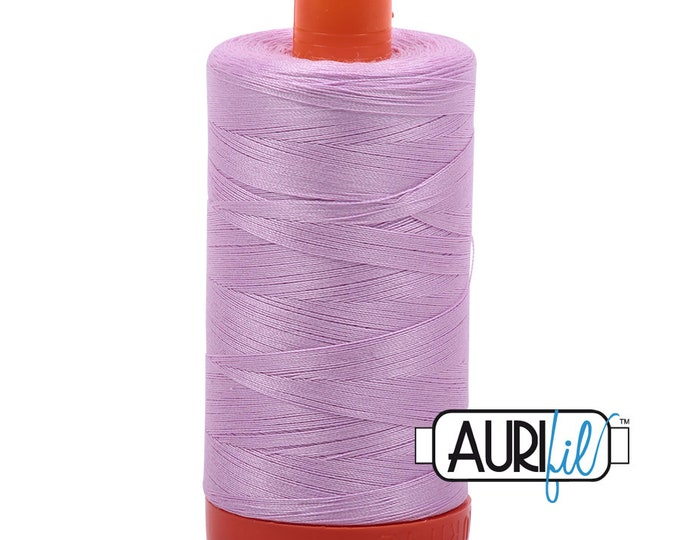 50 Wt AURIFIL Light Orchid 2515 Mako Made in Italy 1300m Quilt Cotton Quilting Thread (MK50SC6)