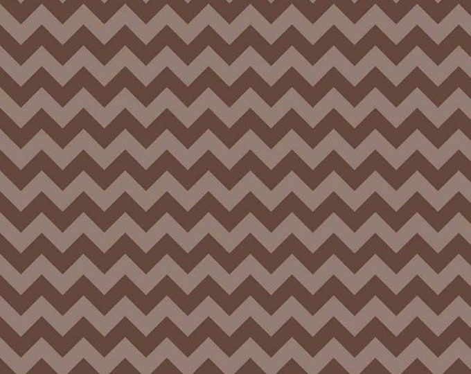 CLEARANCE - Riley Blake - Small Chevron - C400-91 Brown