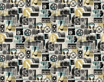 Northcott Fabrics - Urban Grunge - 22674-11 - Graphic - Modern Maker Box