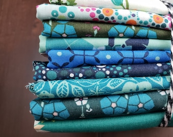 9 Print Half Yard Fabric Bundle - Loved to Pieces by Mister Domestic for Art Gallery Fabrics - Quilters Cotton