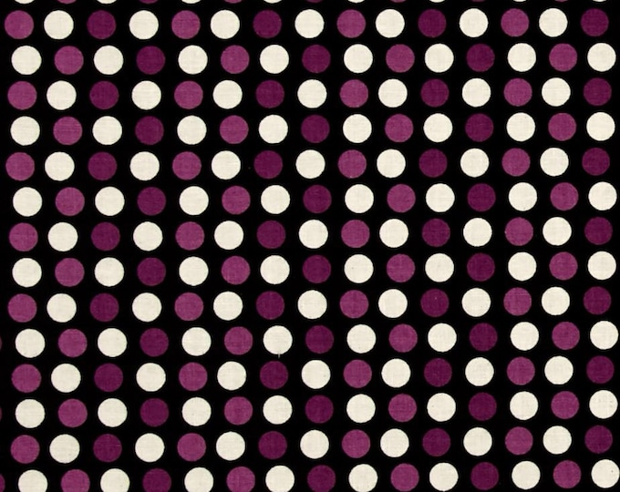CLEARANCE - Riley Blake - Lost & Found Halloween - C5125 Purple and White Dots