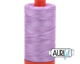 50 Wt AURIFIL - French Lilac 3840- Variegated Mako Made in Italy 1300m Quilt Cotton Quilting Thread (MK50SP3840)