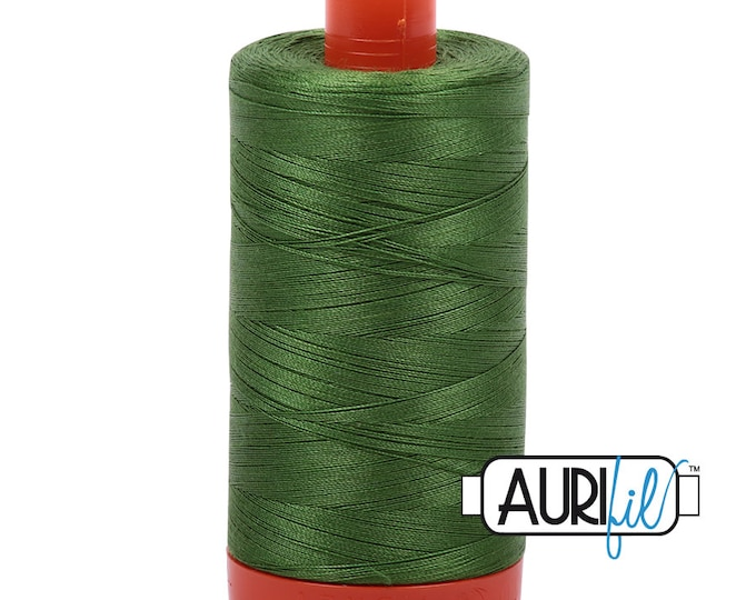 50 Wt AURIFIL Dark Grass Green 5018 Mako Made in Italy 1300m Quilt Cotton Quilting Thread (MK50SC6)