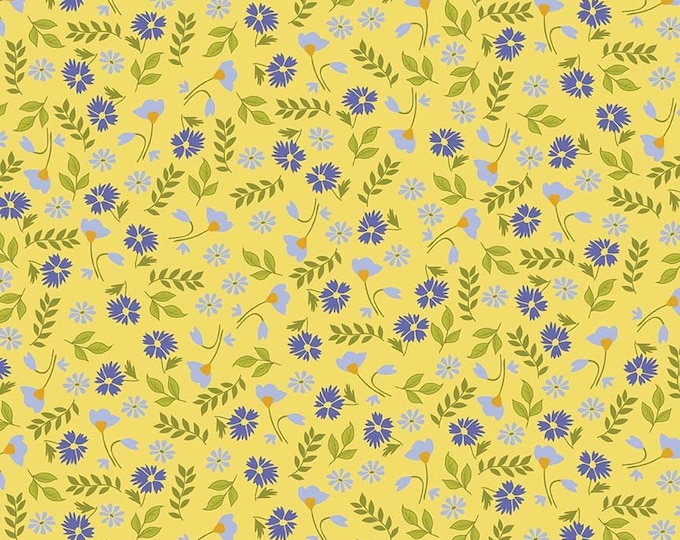 CLEARANCE - Penny Rose Fabrics - Meadow Sweets by Jill Finley - C5651 Yellow
