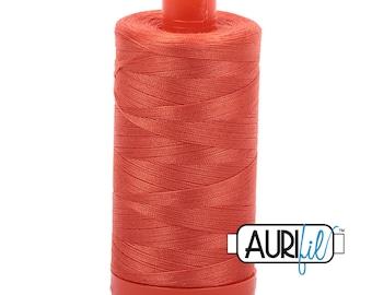 50 Wt AURIFIL Dusty Orange 1154 Mako Made in Italy 1300m Quilt Cotton Quilting Thread (MK50SC6)