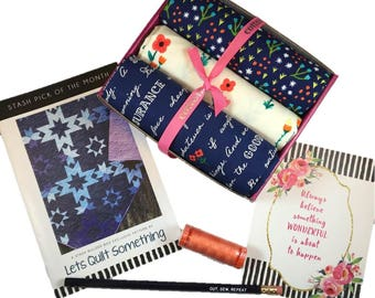 """Complete Modern Maker Box - Meriwether by Amy Gibson for Windham Fabrics - Box """"Blue"""" -  Quilters Cotton"""