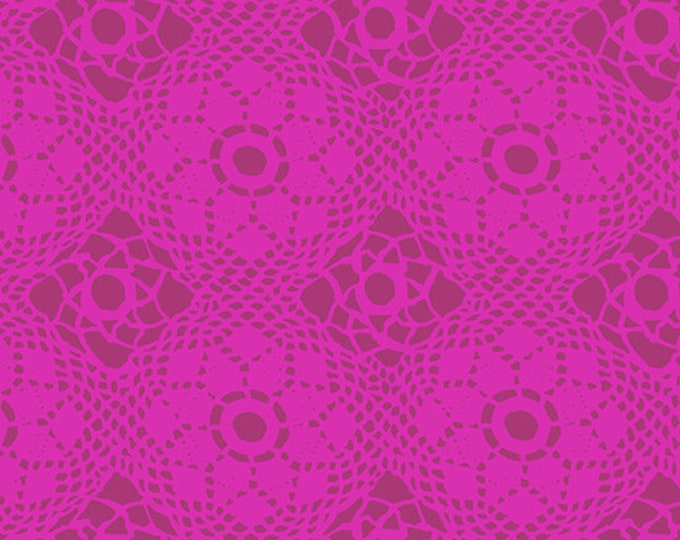 Paradise Fabric D & Binding - Handiwork by Alison Glass for Andover - Plum Crochet - A-9253-P