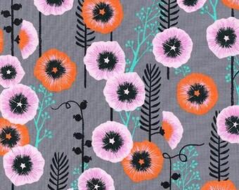 Cotton + Steel - Santa Fe by Sarah Watts - Hollyhocks in Grey - Modern Maker Box