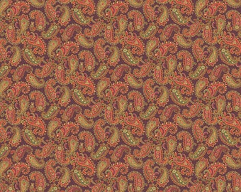 Andover Fabrics - Brown Paisley - Carlisle by Kathy Hall - Reproduction