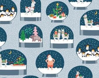 Dear Stella Fabrics - Fa La La Llama - Arctic - STELLA 1230 - Holiday / Seasonal
