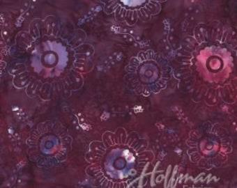 Hydrangea #4 - Hoffman Fabrics - Petals and Vines (P2031-561 - Tahiti)