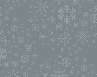 Art Gallery Fabrics - Snow Day by Mister Domestic - Ice Crystals - SND-65404