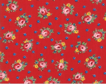 Moda Fabrics - Sweet Harmony by American Jane - 21752 13 - Red Floral