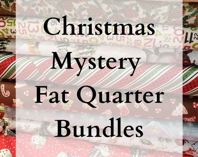 LIMITED EDITION - Christmas Mystery Bundles of Fabric - 10 Fat Quarters