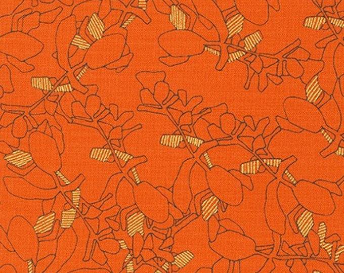 Robert Kaufman Fabrics - Collection CF Metallic by Carolyn Friedlander - AFRM-19928-380 ORANGEADE