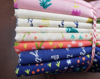 9 Print Half Yard Fabric Bundle - Meriwether by Amy Gibson for Windham Fabrics - Quilters Cotton