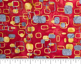 Banyan Batiks - Mod Graphics - Red Geometric assorted shapes - 80177-24