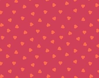 Bianca Fabric F and Binding - Andover Fabrics Mixtape by Libs Elliot - A-8872-O - Heart of Glass Rhubarb
